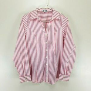 Express Ultimate Essential Button Up Shirt Striped
